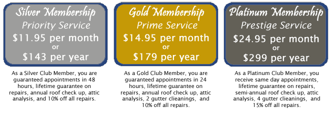 Russ Noyes Roofing Overhead Care Club Pricing