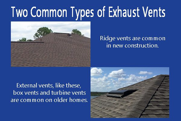 Orlando roofer demonstrates 2 types of roof vents
